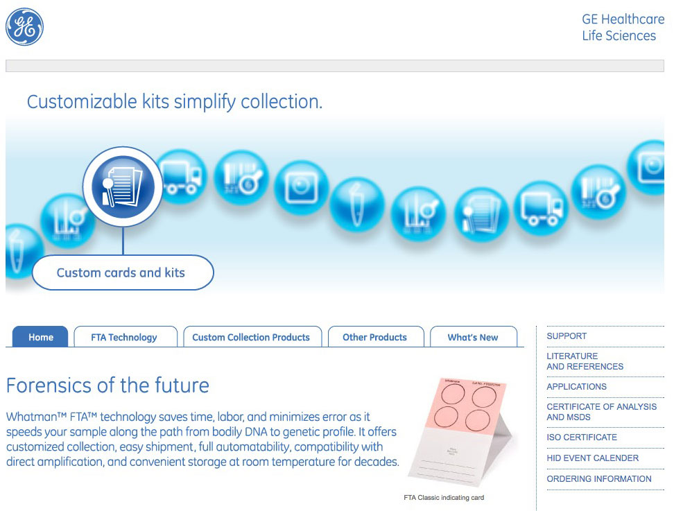 GE Forensics Microsite